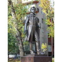 Monument to Alexander Pushkin in Abakan (Russia, 2007)