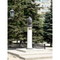 Bust of Alexander Pushkin in Azov (Russia, 1987)