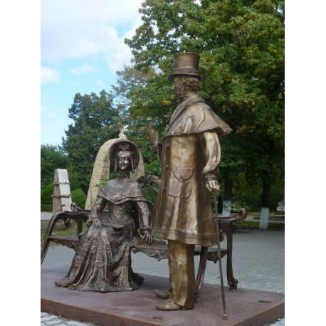 Figure of Alexander Puskin in Bataysk (Russia, 2013-2016)