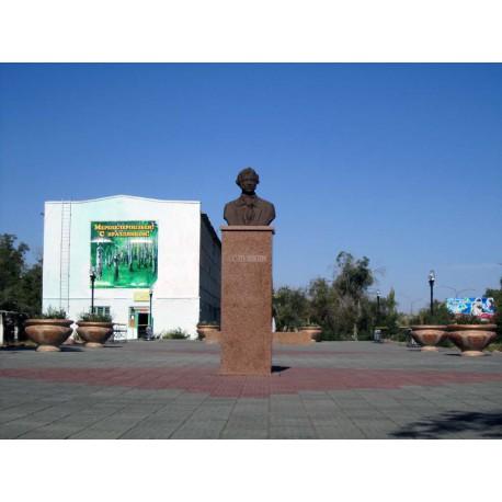 Бюст в г.Приозёрск (Казахстан, 2011)