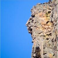 Профиль Пушкина на скале в Гурзуфе, Крым (Россия)