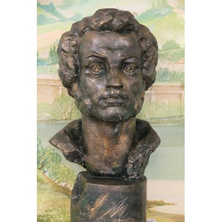 Bust of Alexander Pushkin in Kishinev (Moldova, 2010)