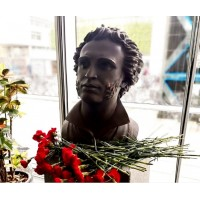 Bust of Alexander Pushkin in Copenhagen (Denmark, 2017)